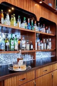 The lounge or bar area at Skaga Hotel