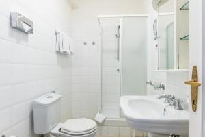 Koupelna v ubytování Residence Bologna