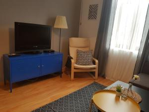 A television and/or entertainment center at Radomir Downtown Apartments