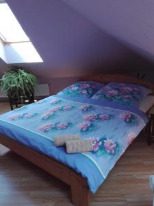 Кровать или кровати в номере Ubytování Carmen