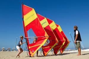 Windsurfing at the campground or nearby