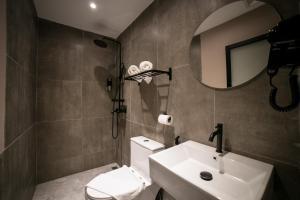 A bathroom at Eureka Hotel Penang