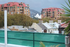 A view of the pool at Sydney Central Backpackers or nearby