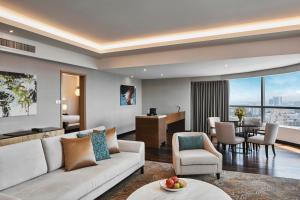 A seating area at DoubleTree by Hilton Melaka