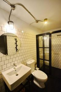 A bathroom at STrips the Poshtel