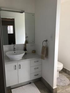 A bathroom at Creekbend