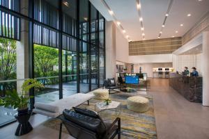 The lobby or reception area at Somerset Ekamai Bangkok
