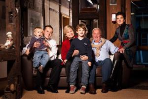 Famille séjournant dans l'établissement Auberge Saint Laurent
