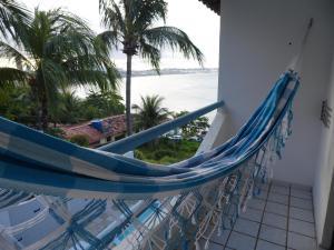 A balcony or terrace at Pousada Estacao Do Sol Natal