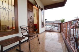 A balcony or terrace at Villa Amanah