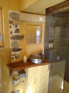 Salle de bains dans l'établissement Elément-Terre