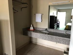 A bathroom at Treetop Inn