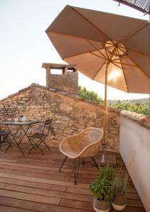 Balcon ou terrasse dans l'établissement Domaine Les Martins - Gordes