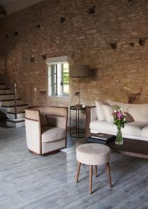 Coin salon dans l'établissement Domaine Les Martins - Gordes