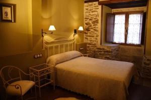 Cama o camas de una habitación en Eido das Estrelas