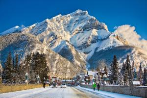 Banff Boutique Inn during the winter