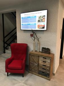 Μια τηλεόραση ή/και κέντρο ψυχαγωγίας στο Filoxenia Hotel & Spa