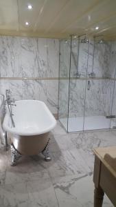 A bathroom at Nunsmere Hall Hotel