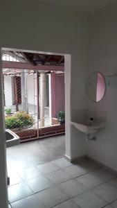 A bathroom at Hotel Uirapuru