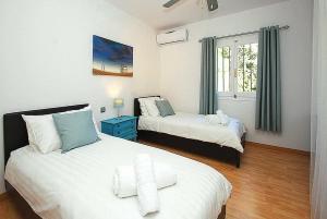 Cama o camas de una habitación en Los Verdiales