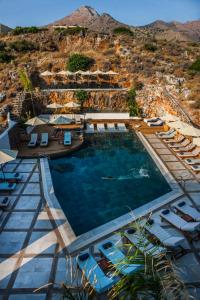 The swimming pool at or close to Elounda Orama