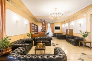 Coin salon dans l'établissement Hotel Villa Rosa