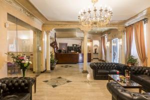 Hall ou réception de l'établissement Hotel Villa Rosa