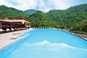 The swimming pool at or near Silks Place Taroko Hotel