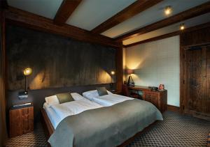 Posteľ alebo postele v izbe v ubytovaní Hotel Pošta