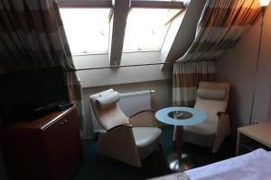 A seating area at Hotel Katrina