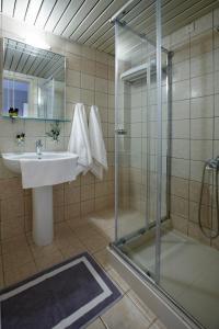 Salle de bains dans l'établissement Panorama