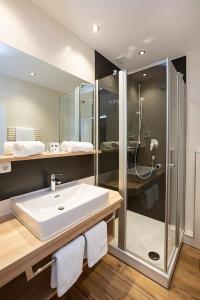 Ein Badezimmer in der Unterkunft Vital Hotel Wiedemann