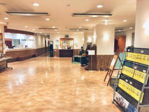 Area lobi atau resepsionis di Smile Hotel Asahikawa