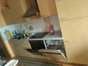 A kitchen or kitchenette at Captains Duisburg