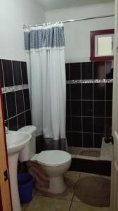 A bathroom at HOSTAL Y CABAÑA «CASA GRANDE»