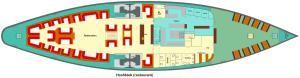 The floor plan of Kapitein Anna