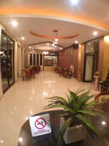 The lobby or reception area at VIP Hotel Cianjur