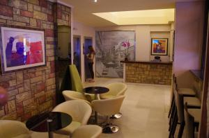 The lobby or reception area at Hotel Exarchion