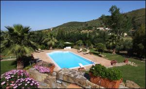 A view of the pool at Villa Tresino B&B or nearby