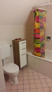 Ein Badezimmer in der Unterkunft Ferienhaus Bad Waltersdorf