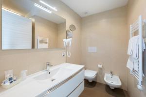 Koupelna v ubytování Hotel Garni' Serena