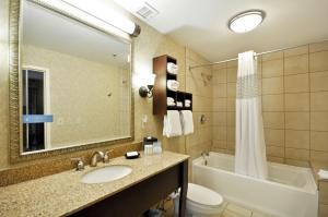 A bathroom at Hampton Inn Charleston-Historic District