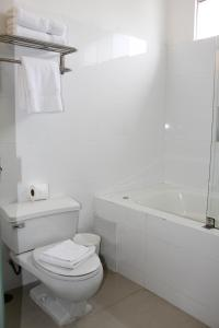 A bathroom at El Golf Hotel Boutique