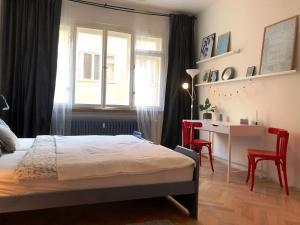 Кровать или кровати в номере Apartment Krakovska 12