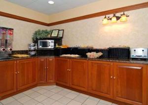 A kitchen or kitchenette at Quality Inn & Suites Bensalem