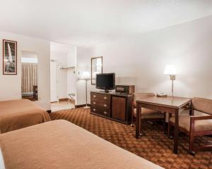 A television and/or entertainment center at Quality Inn Uptown