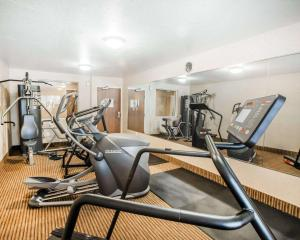 The fitness center and/or fitness facilities at Quality Inn & Suites Denver International Airport