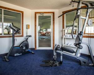 The fitness center and/or fitness facilities at Quality Inn & Suites Eldridge Davenport North