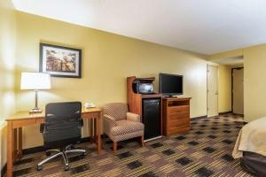 A television and/or entertainment center at Quality Inn Newton