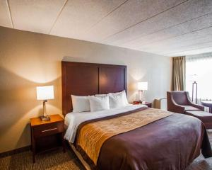 A bed or beds in a room at Quality Inn & Suites Orland Park - Chicago